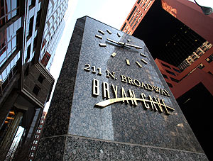 Bryan Cave, headquartered in St. Louis, faces two legal malpractice lawsuits over advice to a broker.  File photo